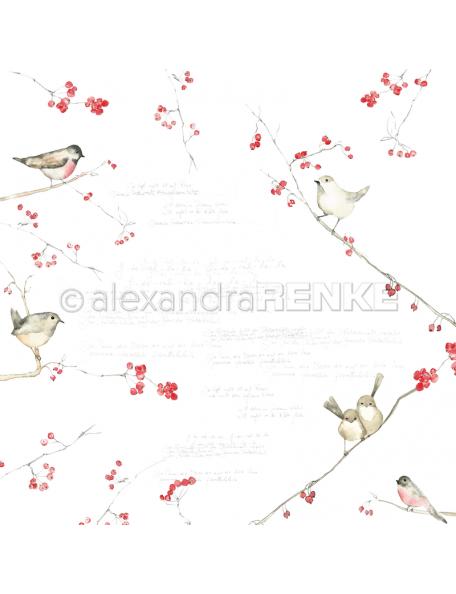 Alexandra Renke Cardstock de una cara 30,5x30,5 cm, Pajaros y Bayas/Vögel und Beeren