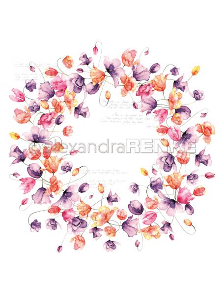 Alexandra Renke Cardstock de una cara 30,5x30,5 cm, Corona de Tulipanes/ Tulpenkranz