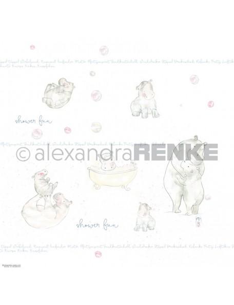 Alexandra Renke Cardstock de una cara 30,5x30,5 cm, Hippos