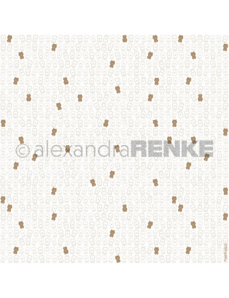 Papel Peluche Blanco Oro/ Teddybär weiß gold - Alexandra Renke