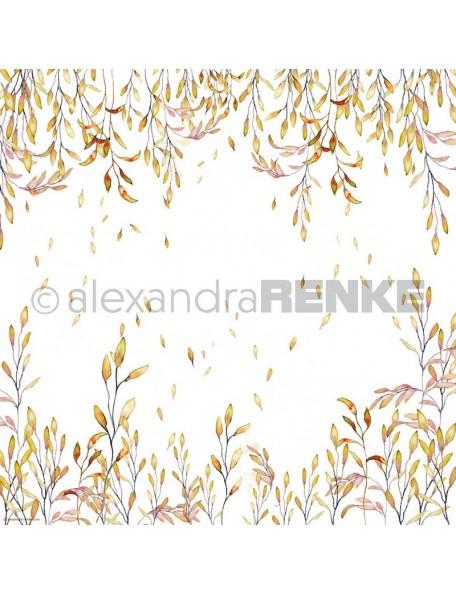 Alexandra Renke Cardstock de una cara 30,5x30,5 cm, Ramas Naranja/Ranke Orange
