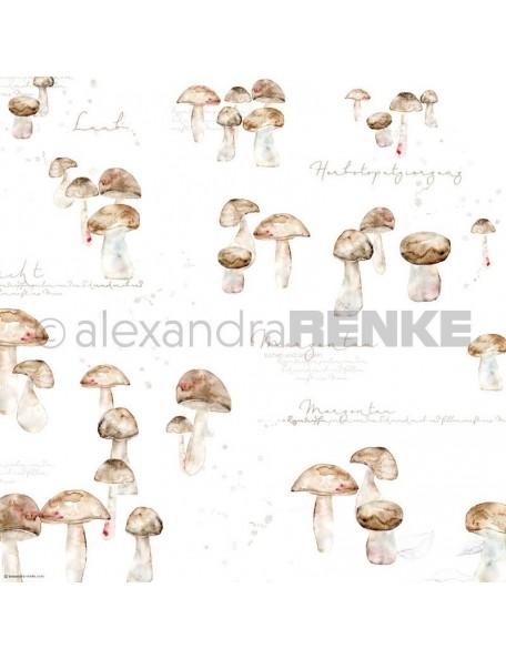 Alexandra Renke Cardstock de una cara 30,5x30,5 cm, Setas/Steinpilz