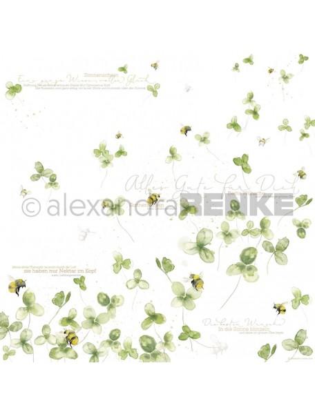 Alexandra Renke Cardstock de una cara 30,5x30,5 cm, Trebol de Suerte/Glücksklee