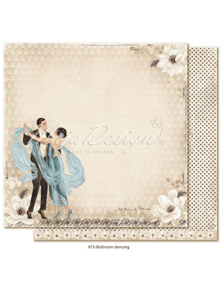 "Maja Design Celebration Cardstock de doble cara 12""x12"", Ballroom dancing"