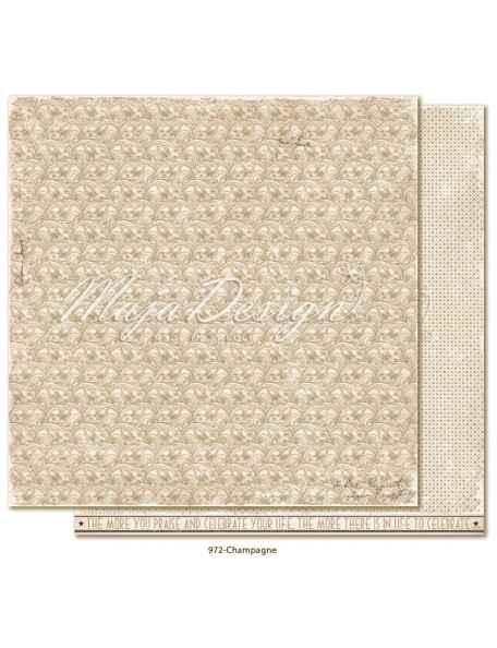 "Maja Design Celebration Cardstock de doble cara 12""x12"", Champagne"