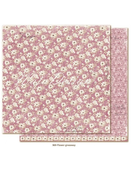 "Maja Design Celebration Cardstock de doble cara 12""x12"", Flower giveaway"