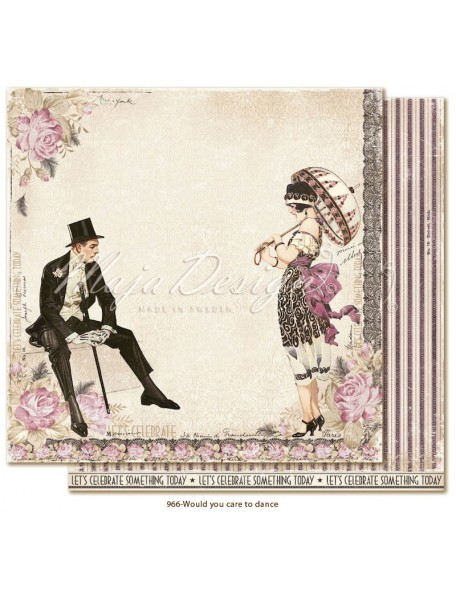 "Maja Design Celebration Cardstock de doble cara 12""x12"", Would you care to dance?"