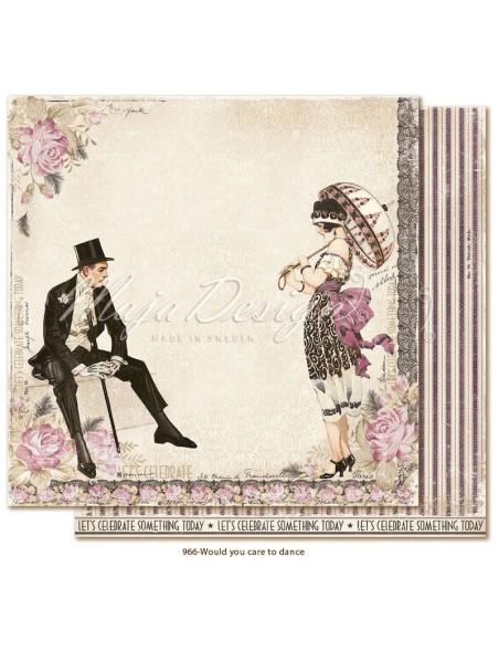 "Maja Design Celebration Cardstock de doble cara 12""x12"", Would you care to dance?"