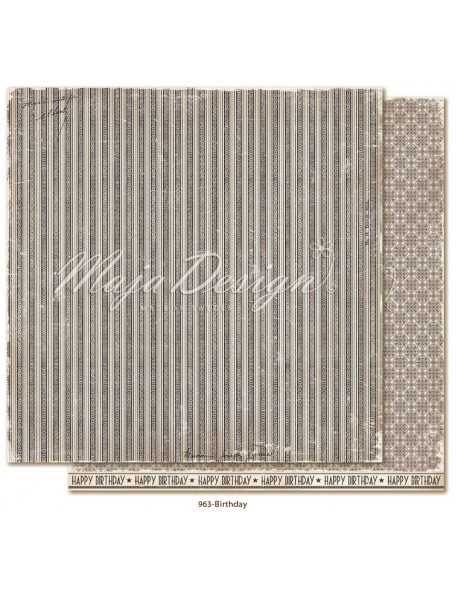 "Maja Design Celebration Cardstock de doble cara 12""x12"", Birthday"