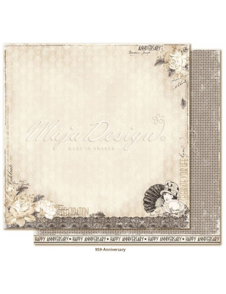 "Maja Design Celebration Cardstock de doble cara 12""x12"", Anniversary"