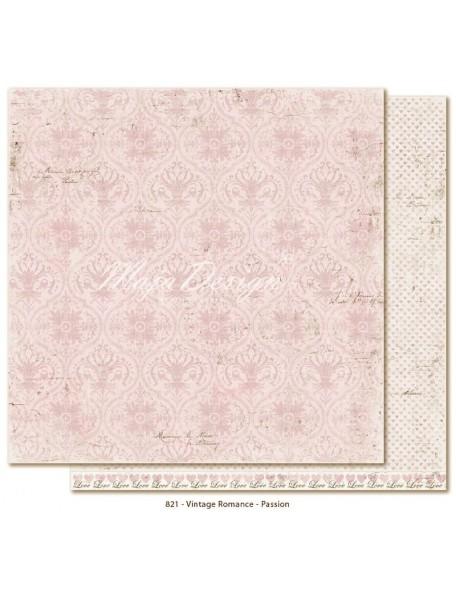 "Maja Design Vintage Romance Cardstock de doble cara 12""x12"", Passion DESCATALOGADO"