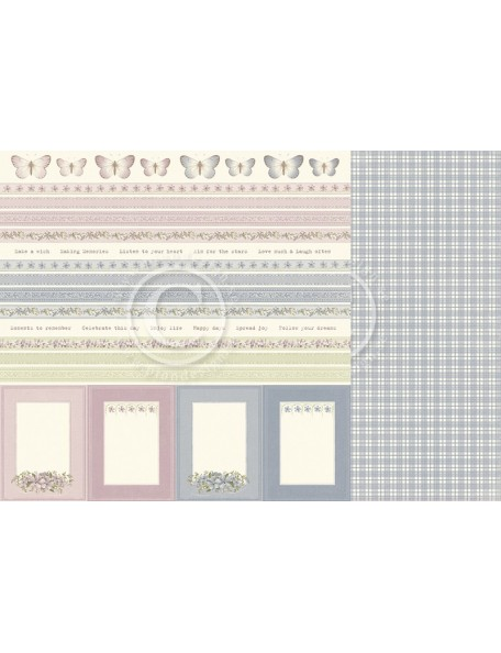 "Pion Design Days Gone By Cardstock de doble cara 12""x12"", Borders"