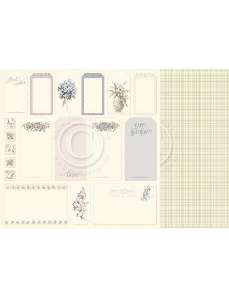 "Pion Design Days Gone By Cardstock de doble cara 12""x12"", Tags"