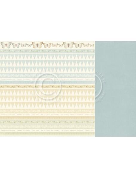 "Pion Design Cardstock de doble cara 12""x12"", Borders - The Songbird's Secret"
