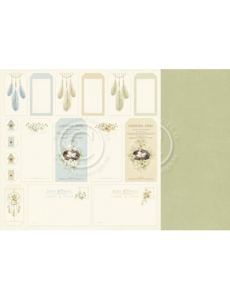 "Pion Design Cardstock de doble cara 12""x12"", Tags - The Songbird's Secret"
