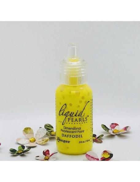 Ranger Liquid Pearls Dimensional Pearlescent Paint .5oz, Daffodil