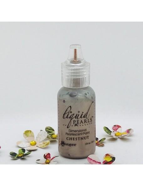 Ranger Liquid Pearls Dimensional Pearlescent Paint .5oz, Chestnut