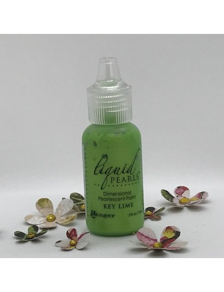 Ranger Liquid Pearls Dimensional Pearlescent Paint .5oz, Key Lime