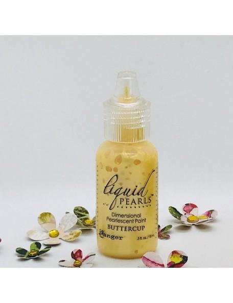 Ranger Liquid Pearls Dimensional Pearlescent Paint .5oz, Buttercup