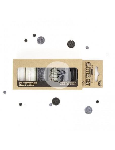 Prima Marketing Finnabair Art Extravagance Glitter Set, Ebony & Ivory