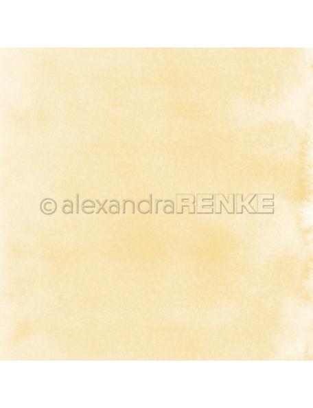 Alexandra Renke Cardstock de una cara 30,5x30,5 cm, Mimis Coleccion Luna Amarilla Acuarela/Aquarell Mondgelb