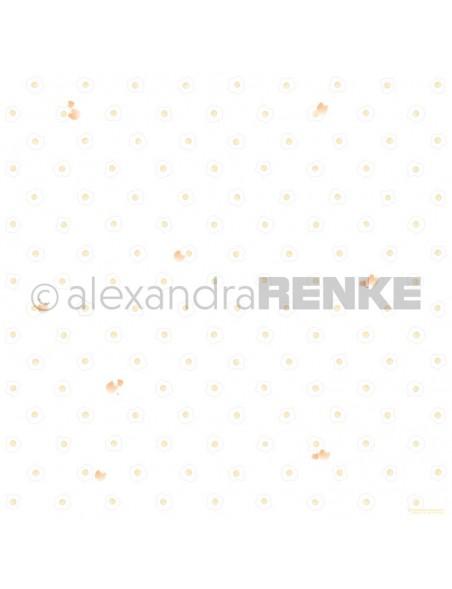 Alexandra Renke Cardstock de una cara 30,5x30,5 cm, Huevos Fritos/Spiegeleier