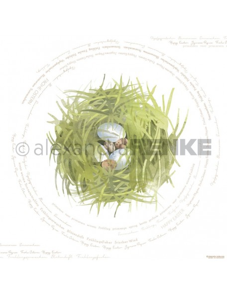 Alexandra Renke Cardstock de una cara 30,5x30,5 cm, Nido de Pascua/Osternest