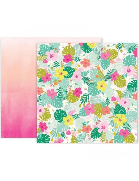 """Pink Paislee Confetti Wishes Cardstock de doble cara 12""""X12"""", No. 5"""