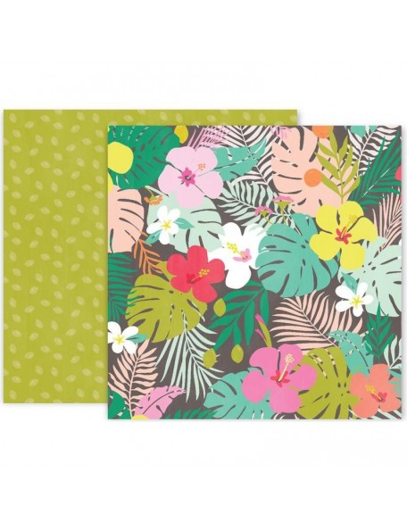 """Pink Paislee Confetti Wishes Cardstock de doble cara 12""""X12"""", No. 8"""