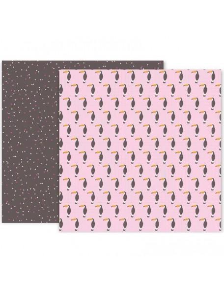 "Pink Paislee Confetti Wishes Cardstock de doble cara 12""X12"", No. 1 (Disponible aprox. 17.3.18)"