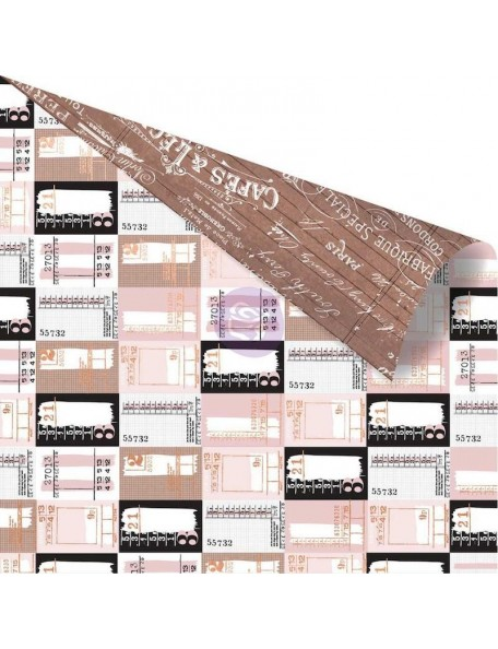 "Prima Marketing Amelia Rose Rose Gold Foiled Cardstock de doble cara 12""X12"", Ticket Collector"