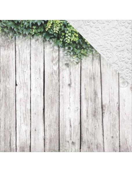 "Kaisercraft Wandering Ivy Cardstock de doble cara 12""X12"", Ivy Wall"