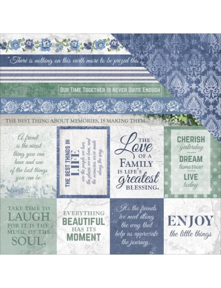"Kaisercraft Wandering Ivy Cardstock de doble cara 12""X12"", Blessings"