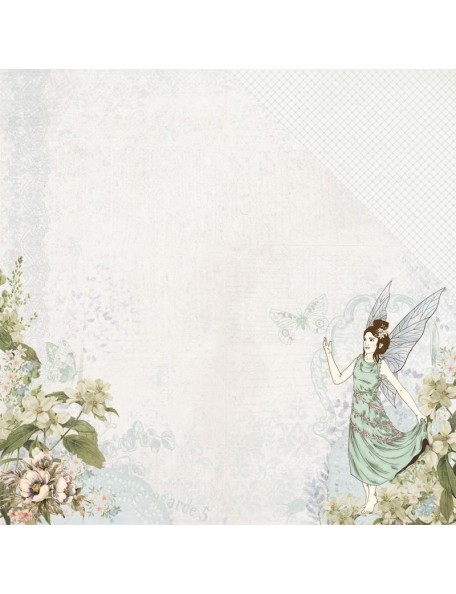"Kaisercraft Fairy Garden Cardstock de doble cara 12""X12"" Pixie Dust"