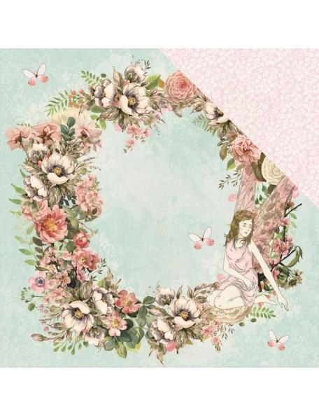 """Kaisercraft Fairy Garden Cardstock de doble cara 12""""X12"""" Fantasy"""