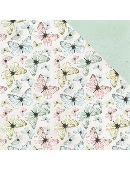 """Kaisercraft Fairy Garden Cardstock de doble cara 12""""X12"""" Fluttering"""