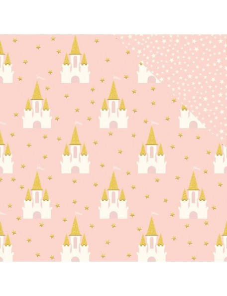 "Pink Paislee Confetti Wishes Cardstock de doble cara 12""X12"", No. 1 (Disponible aprox. 17.3.18)"