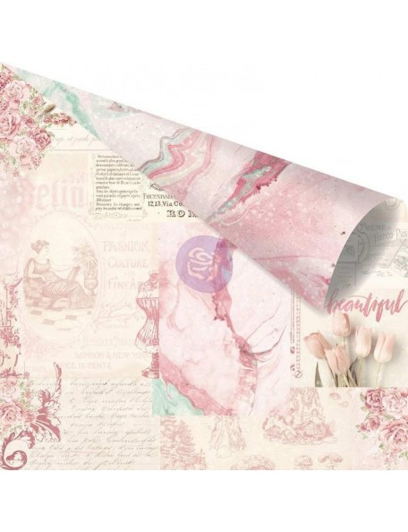 Prima Marketing Love Story Pink Foiled, Love Notes Only For You