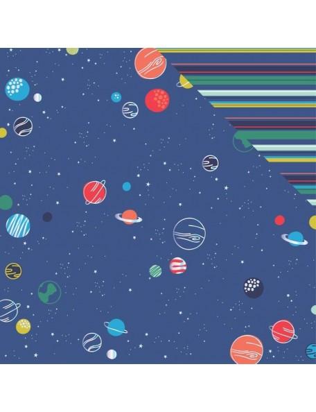 "My Minds Eye Blastoff Holographic Foiled Cardstock de doble cara 12""X12"", Galaxy"