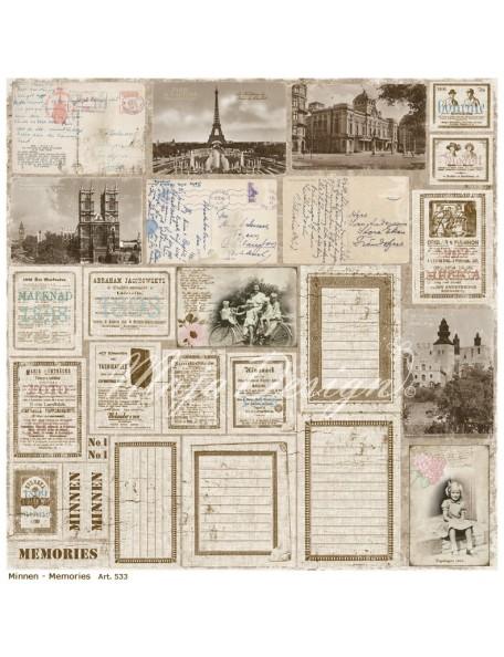 "Maja Design Vintage Summer Basics Cardstock de doble cara 12""x12"", Memories"