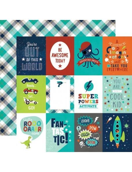 Echo Park Imagine That Boy, 3X4 Journaling Cards