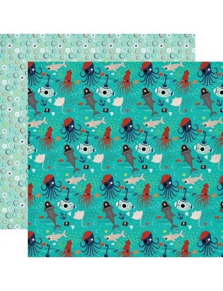 "Echo Park Little Man Cardstock de doble cara 12""X12"", Icons"