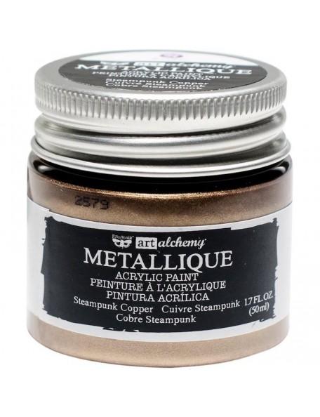 Prima Marketing Finnabair Art Alchemy Acrylic Paint 1.7 Fluid Ounces, Metallique Steampunk Copper