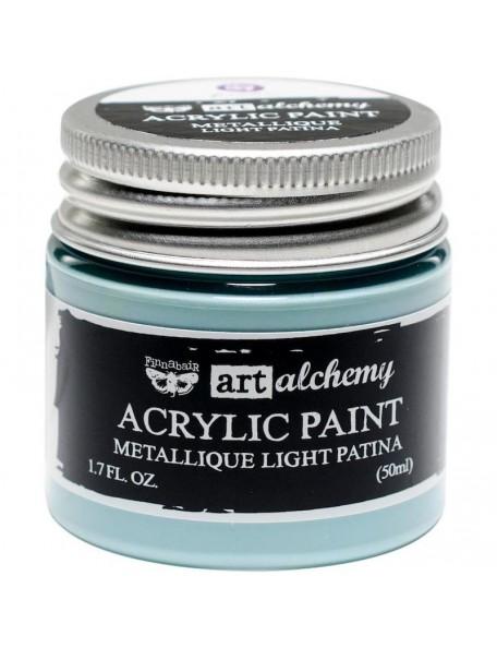 Prima Marketing Finnabair Art Alchemy Acrylic Paint 1.7 Fluid Ounces, Metallique Lime Peel