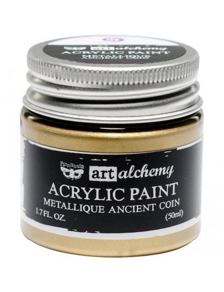 Prima Marketing Finnabair Art Alchemy Acrylic Paint 1.7 Fluid Ounces, Metallique Ancient Coin