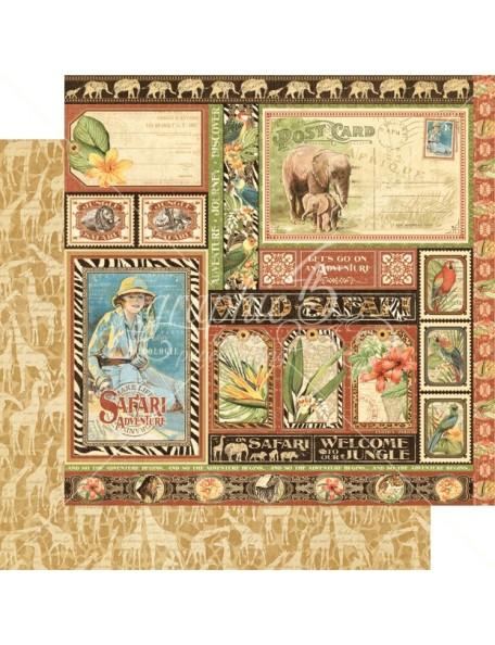 Graphic 45 Safari Adventure, Amazing Africa