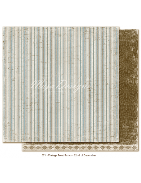 "Maja Design - Vintage Frost Basics Cardstock de doble cara 12""x12"", 22nd of Dec"