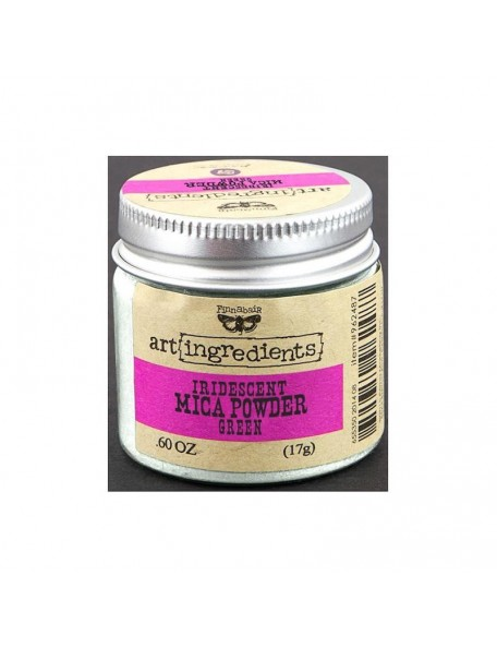 Prima Marketing Finnabair Art Ingredients Mica Powder .6oz, Green Opal Magic