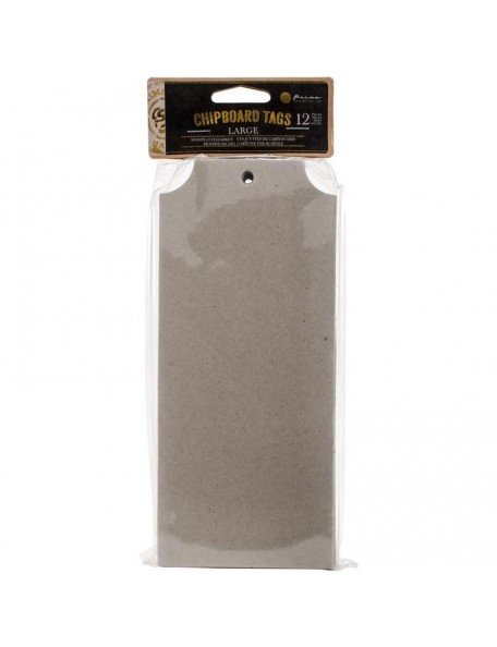 "Prima Marketing Chipboard Tags 12, 3.7""X8.7"""