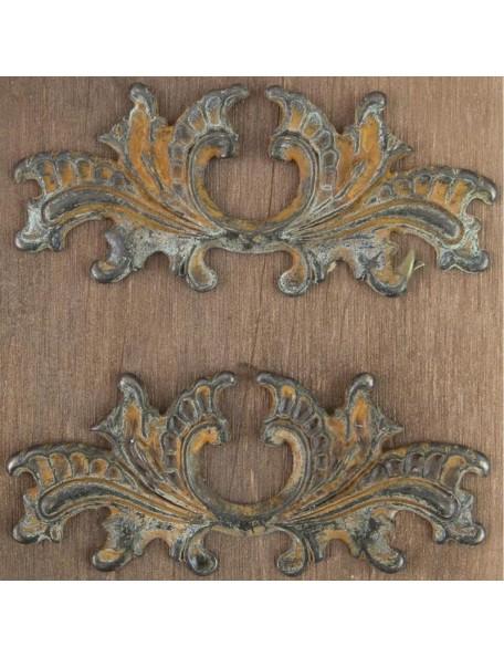 "Prima Marketing Metal W/Antique Brass Finish no. 9 Architectural Element 3.5""X1.5"" 2"
